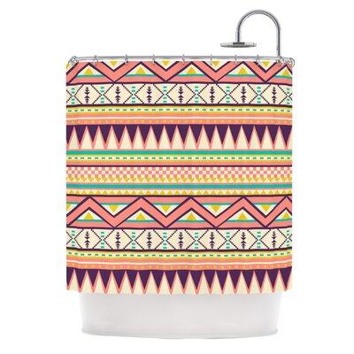 Ethnic Love by Louise Machado Tribal Geometric Shower Curtain