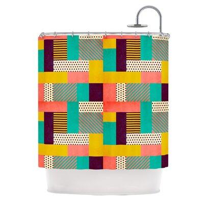 Geometric Love by Louise Machado Abstract Shower Curtain