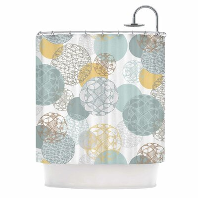 Floating Circles by Maike Thoma Shower Curtain