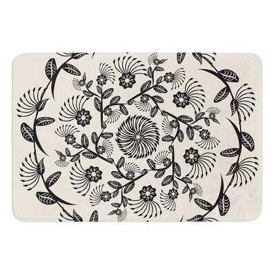 "Decorative Mandala by Famenxt Bath Mat Size: 17""W x 24""L"