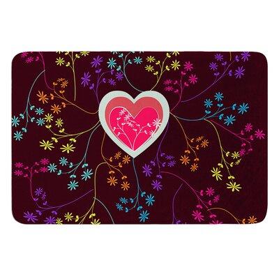 "Love Heart by Famenxt Bath Mat Size: 17""W x 24""L"