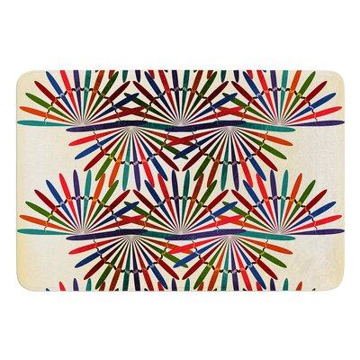 "Colorful Abstract Pattern by Famenxt Bath Mat Size: 24"" W x 36"" L"