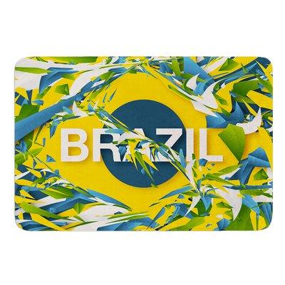"""Brazil by Danny Ivan Bath Mat Size: 17""""W x 24""""L"""