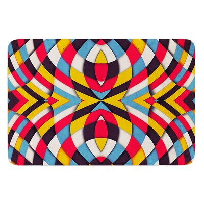 """Stained Glass by Danny Ivan Bath Mat Size: 17""""W x 24""""L"""