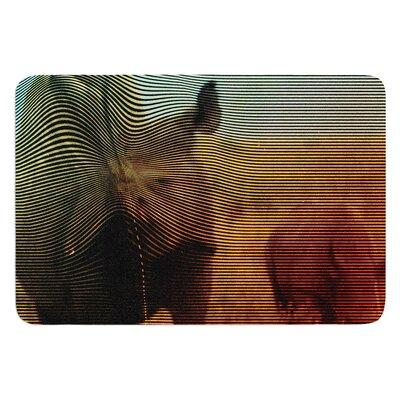 "Abstract Rhino by Danny Ivan Bath Mat Size: 17""W x 24""L"