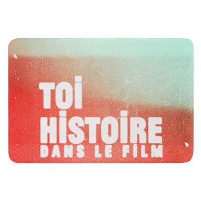 "Toi Histoire by Danny Ivan Bath Mat Size: 17""W x 24""L"