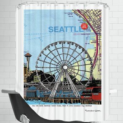 Seattle Great Wheel Shower Curtain