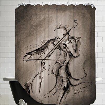 The Cellist 1 Shower Curtain