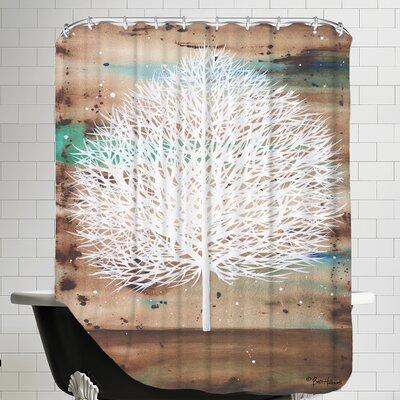 The Aurora Watcher Shower Curtain
