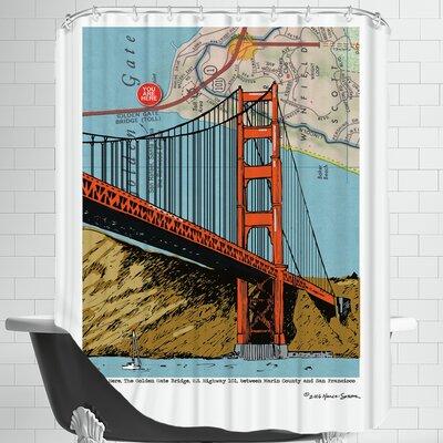 Golden Gate Bridge - San Francisco Shower Curtain