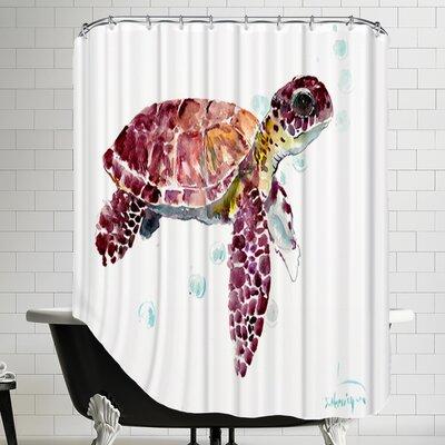 Seaturtle Cherry Shower Curtain