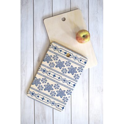 Deep Blue Snowdrift Cutting Board