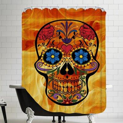 Horror Skull Halloween Shower Curtain