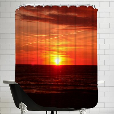 Colorful Sunset With Ocean Shower Curtain