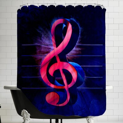Colorful Music Clef Style Shower Curtain