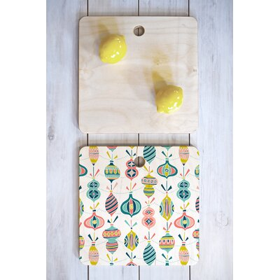 Decorated Cutting Board Color: White