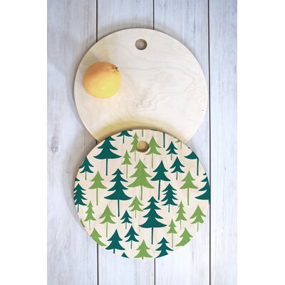 Winter Green Trees Cutting Board