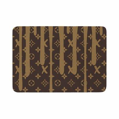 """LX Drip by Just L Memory Foam Bath Mat Color: Brown, Size: 24"""" L x 17"""" W"""