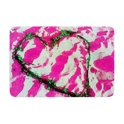 "Tiger Love by Anne LaBrie Bath Mat Color: Pink, Size: 17""W x 24""L"