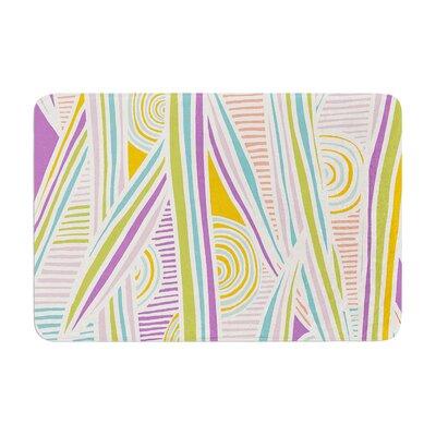 "Graphique by Emine Ortega Bath Mat Color: White/Multi, Size: 17""W x 24""L"