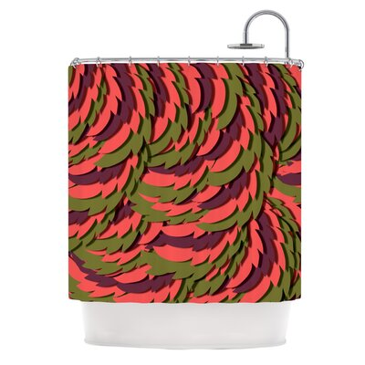 Wings II by Akwaflorell Shower Curtain Color: Red/Brown