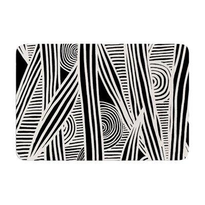 """Graphique by Emine Ortega Bath Mat Color: Black/White, Size: 17""""W x 24""""L"""
