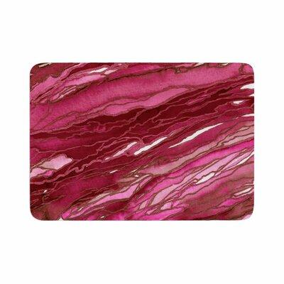"""Agate Magic by Ebi Emporium Memory Foam Bath Mat Size: 36"""" L x 24"""" W, Color: Hot Pink/Red"""