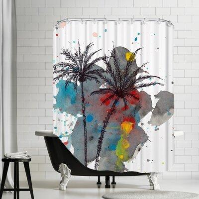 Watercolor Splash Shower Curtain