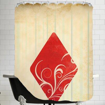 Playing Card Diamonds Shower Curtain