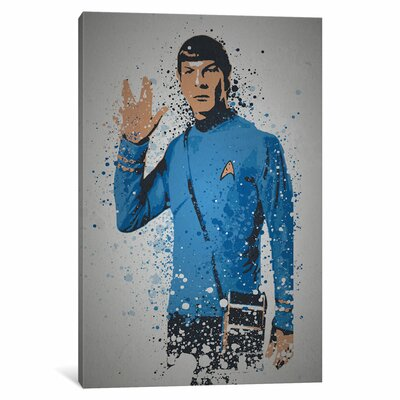 """'Pop Culture Splatter Series: Live Long and Prosper' Graphic Art Print on Wrapped Canvas Size: 26"""" H x 18"""" W x 0.75"""" D"""