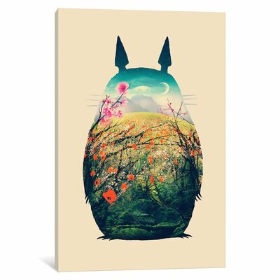 "'Tonari no Totoro' Graphic Art Print on Wrapped Canvas Size: 18"" H x 12"" W x 0.75"" D"