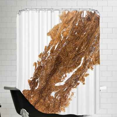 Flames of Copper Shower Curtain