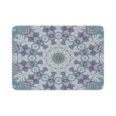 "Alison Coxon Jungle Kaleidoscope Cool Memory Foam Bath Rug Size: 0.5"" H x 17"" W x 24"" D, Color: Blue/Purple"