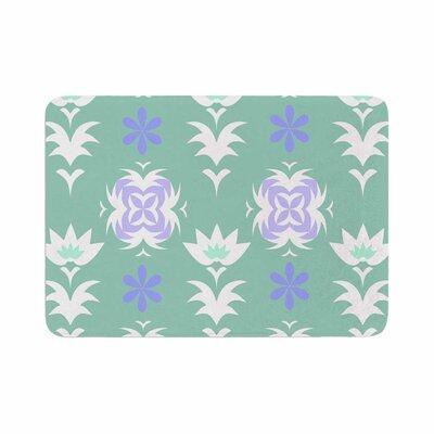 """Alison Coxon Edwardian Tile Memory Foam Bath Rug Color: Blue, Size: 0.5"""" H x 24"""" W x 36"""" D"""