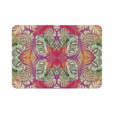 "Alison Coxon Summer Jungle Love Memory Foam Bath Rug Size: 0.5"" H x 17"" W x 24"" D, Color: Purple"