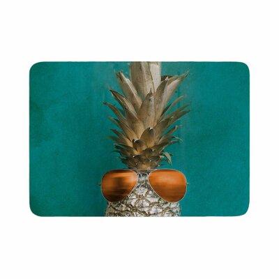 "24 Karat Pineapple Digital Memory Foam Bath Rug Size: 0.5"" H x 17"" W x 24"" D"