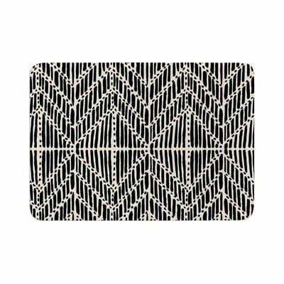 "DLKG Design Tribal Drawings Memory Foam Bath Rug Size: 0.5"" H x 24"" W x 36"" D"