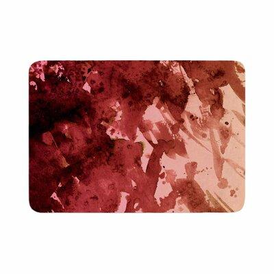 "Ebi Emporium Splash out Memory Foam Bath Rug Color: Red/Coral, Size: 0.5"" H x 24"" W x 36"" D"