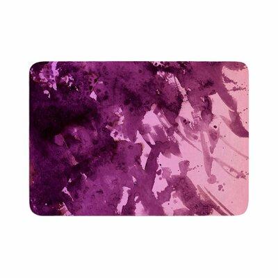 """Ebi Emporium Splash out Memory Foam Bath Rug Color: Purple/Pink, Size: 0.5"""" H x 24"""" W x 36"""" D"""