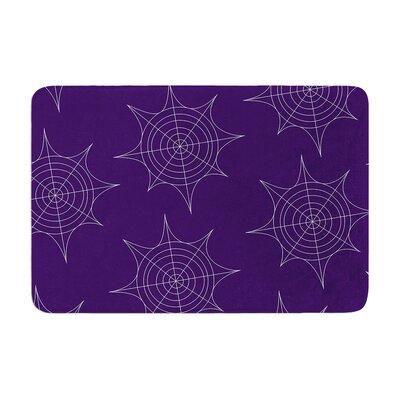 "Spiderwebs Memory Foam Bath Rug Color: Purple, Size: 0.5"" H x 17"" W x 24"" D"