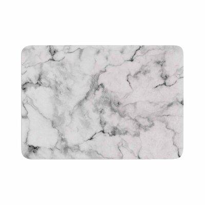 "Marble Memory Foam Bath Rug Size: 0.5"" H x 24"" W x 36"" D"