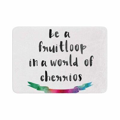"Be a Fruitloop Watercolor Typography Memory Foam Bath Rug Size: 0.5"" H x 24"" W x 36"" D"