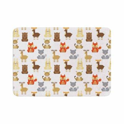 "Petit Griffin Retro Animals Memory Foam Bath Rug Size: 0.5"" H x 17"" W x 24"" D"