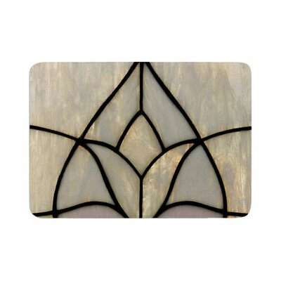 """Philip Tulip Stained Glass Floral Digital Memory Foam Bath Rug Size: 0.5"""" H x 24"""" W x 36"""" D"""