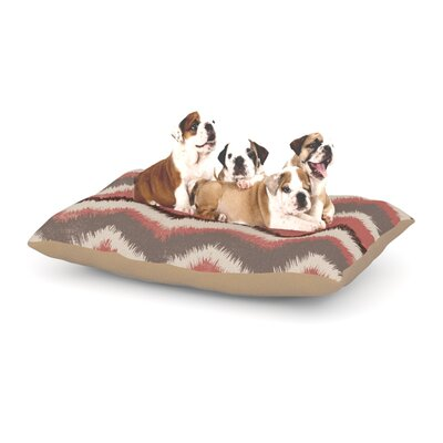 "Heidi Jennings 'Fuzzy Chevron' Dog Pillow with Fleece Cozy Top Size: Small (40"" W x 30"" D x 8"" H)"