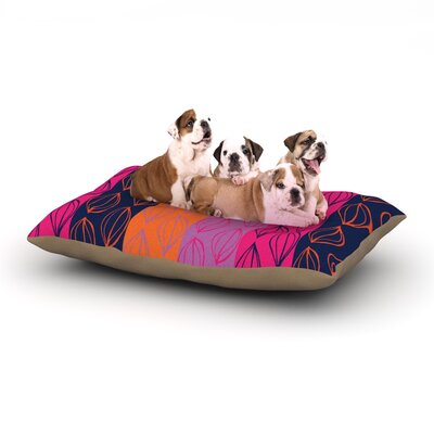 "Anneline Sophia 'Tropical Seeds' Dog Pillow with Fleece Cozy Top Size: Small (40"" W x 30"" D x 8"" H)"