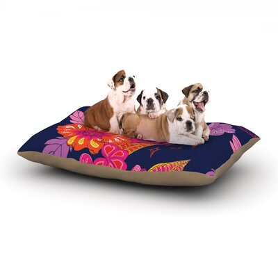 "Anneline Sophia 'Tropical Paradise' Floral Dog Pillow with Fleece Cozy Top Size: Small (40"" W x 30"" D x 8"" H)"