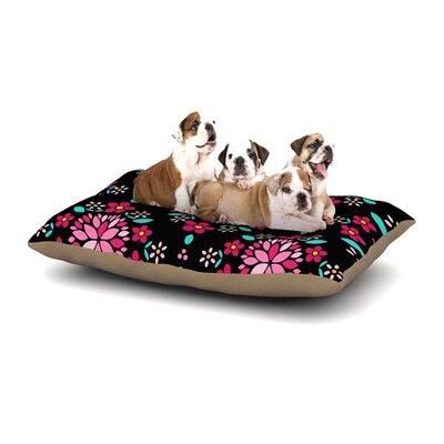 "Anneline Sophia 'Dahlia Mandala' Dog Pillow with Fleece Cozy Top Size: Small (40"" W x 30"" D x 8"" H)"