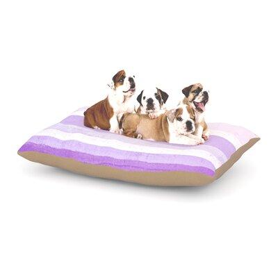 "CarolLynn Tice 'Grape' Dog Pillow with Fleece Cozy Top Size: Small (40"" W x 30"" D x 8"" H)"