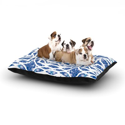 "Miranda Mol 'Blue Explosion' Dog Pillow with Fleece Cozy Top Size: Small (40"" W x 30"" D x 8"" H)"